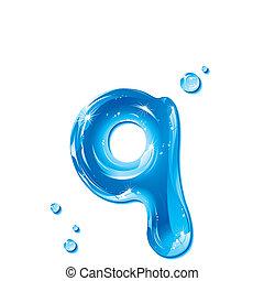 acqua, q, -small, liquido, lettera
