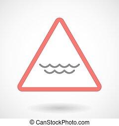 acqua, segnale, simbolo di avvertenza