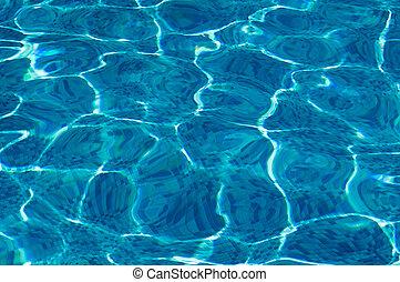 acqua, sole, chiaro, bagliore