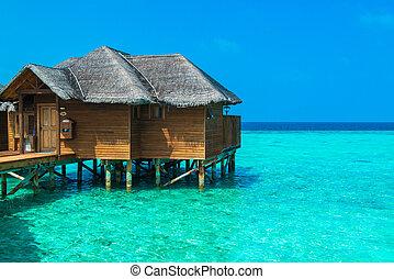 acqua, sopra, bungalow