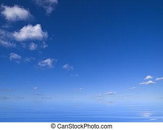 acqua, sopra, nubi