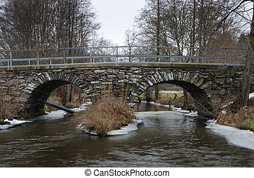 acqua, sopra, stonebridge, vecchio, freddo