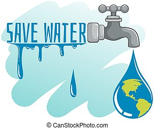 acqua, terra, rubinetto, risparmiare, tema