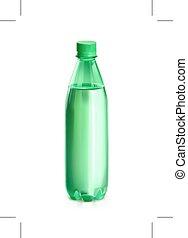 acqua, verde, bottiglia