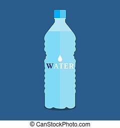 acqua, vettore, bottiglia