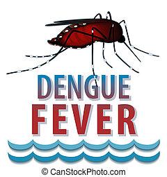 acqua, zanzara, febbre, dengue