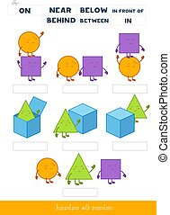 Acquaintance with prepositions of place