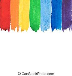 acquarello, arcobaleno, backgound