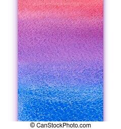 acquarello, arcobaleno, vettore, pendenza