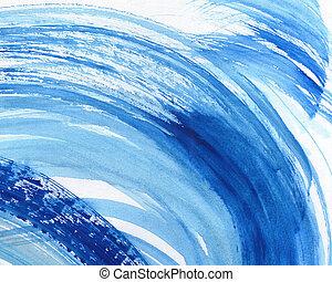acquarello, dipinto, astratto, fondo