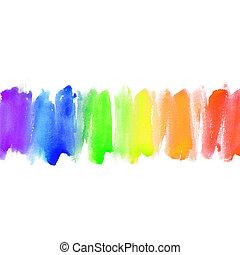 acquarello, dipinto, astratto, mano