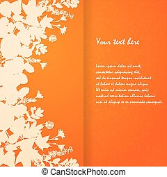 acquarello, dipinto, foglie
