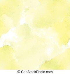 acquarello, pallido, seamless, giallo