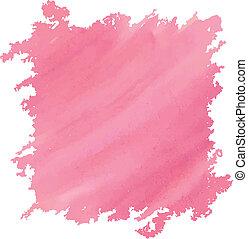 acquarello, rosa, profondo