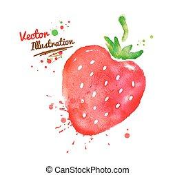 acquarello, strawberry.