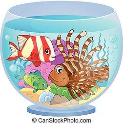 acquario, immagine, topic, 2