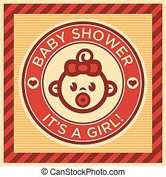 acquazzone bambino, cartolina auguri