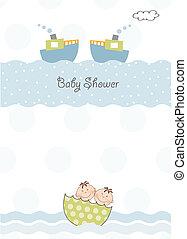 acquazzone bambino, gemelli, invito