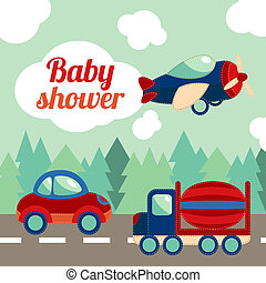 acquazzone bambino, giocattolo, trasporto, scheda