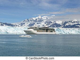 acque, avventura, alaska, ghiacciato