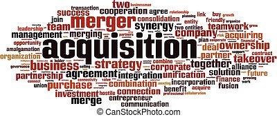 Acquisition word cloud