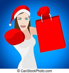 acquisto christmas, indica, vendita dettaglio