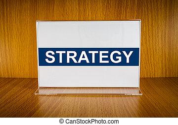 acrílico, suporte, cartão, estratégia