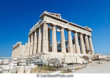 acrópole, parthenon, atenas