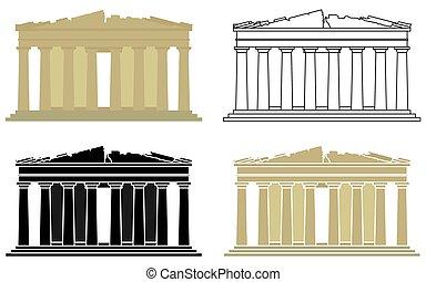 acrópolis, greece., atenas, parthenon