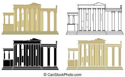 acrópolis, greece., erechtheion