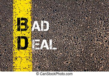 acrônimo, bd, mau, negócio negócio