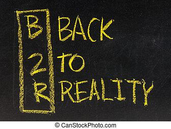 acrônimo, de, b2r, -, costas, para, realidade