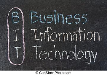 acrônimo, informação, bit, tecnologia, negócio