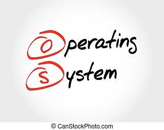 acrônimo, os, sistema, operando