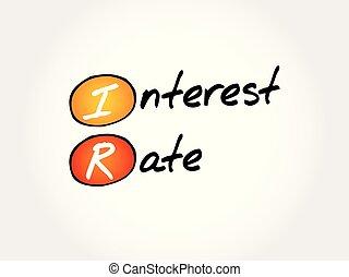 acrônimo, taxa, ir, -, interesse
