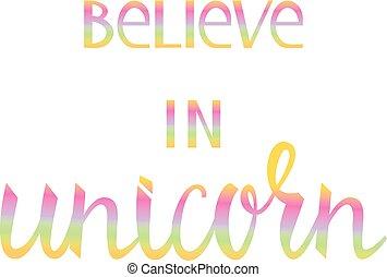 acreditar, em, a, unicorn.