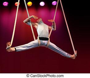 Acrobat on stage