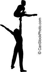 acrobates, gymnastes