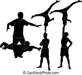 acrobati, ginnasti