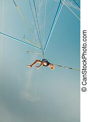acrobatic adrenaline in bungee jumping