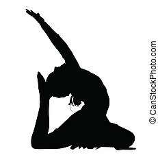 Acrobatic Gymnastics Girl Busy with Dance Routine Silhouette