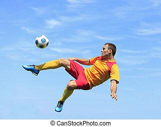 Acrobatic soccer player