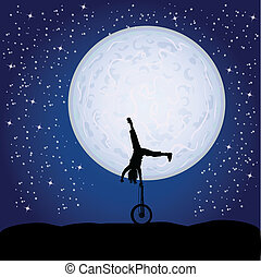acrobatics in the moonlight
