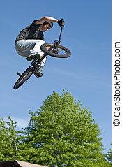 acrobatie, bmx vélo