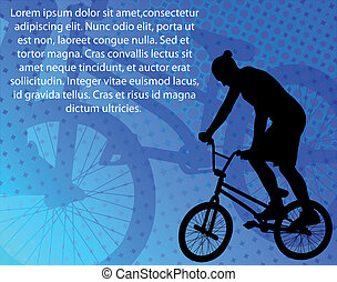 acrobatie, cycliste