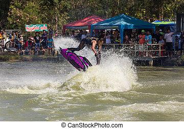 acrobatie, ski, jet, action, freestyle
