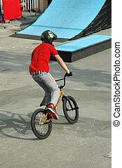 acrobatie, vélo