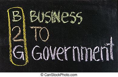 acroniem, b2g, -, zakelijk, regering