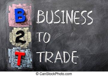 acroniem, b2t, -, zakelijk, handel