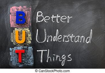 acroniem, beter, spullen, maar, begrijpen
